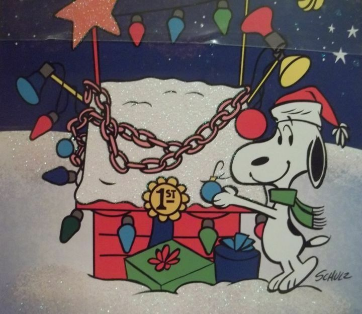 HALLMARK PEANUTS SNOOPY CHRISTMAS CARDS HIS DECORATED