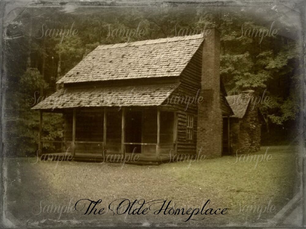 Primitive Log Cabin Smoky Mountains Cades Cove Old