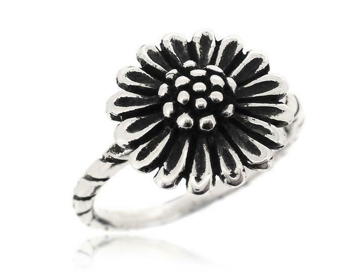 Sovats Womens Nice And Lovely Sunflower Ring 925 Sterling Silver Size 5 12 New EBay
