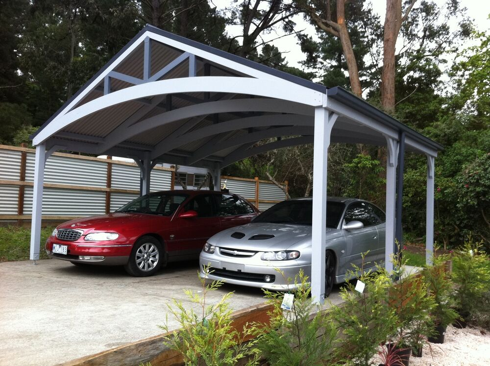 Double Carports Attractive Timber Complete Kits EBay