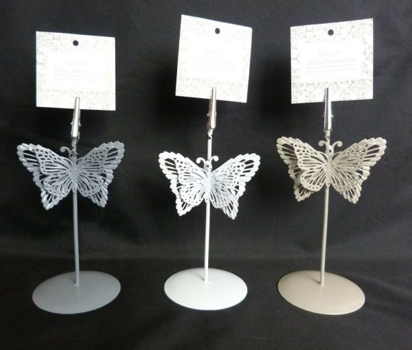 BUTTERFLY MENU HOLDER TABLE NUMBER HOLDER PLACE CARD ...