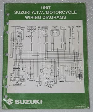 1997 SUZUKI Motorcycle ATV Wiring Diagrams Manual