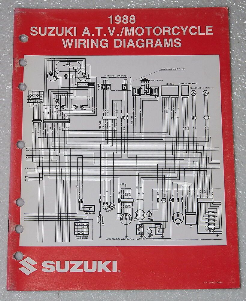 Suzuki Motorcycle And Atv Electrical Wiring Diagrams