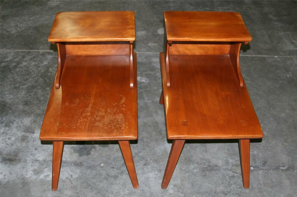 Cushman Colonial Creation Set Of Two Antique/Vintage End