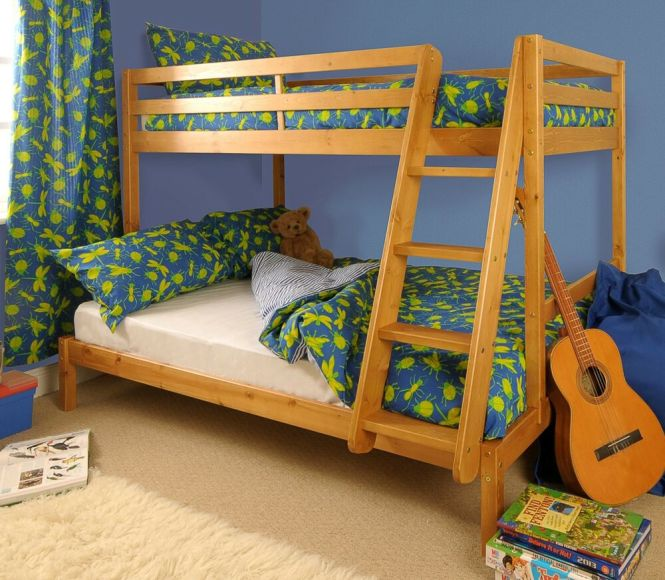 Triple Bunk Bed 3ft 4ft Wooden Pine With Storage Mattress Options Durleigh Ebay