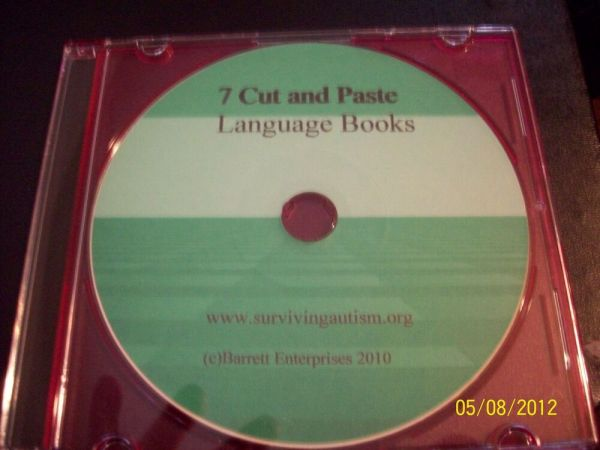 7 Cut & Paste Book CD speech therapy, autism ABA Pecs | eBay