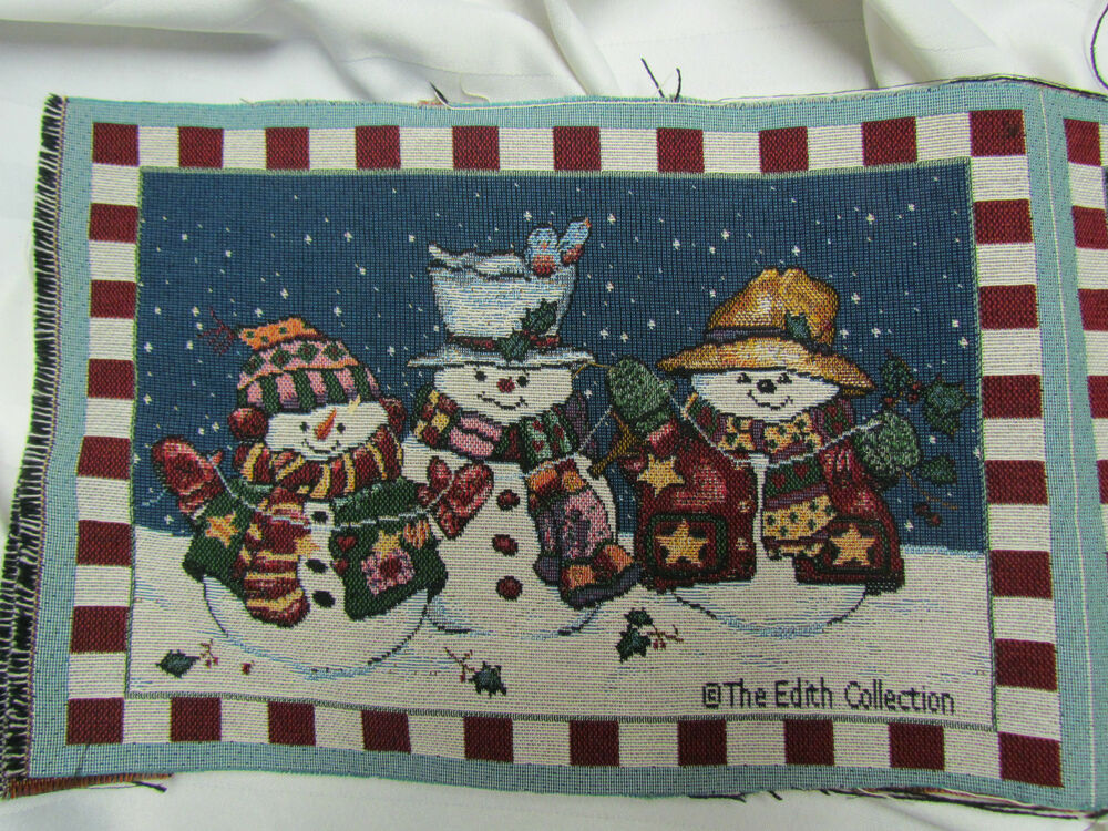 Snowmen Snow Christmas Winter Edith Collection Tapestry