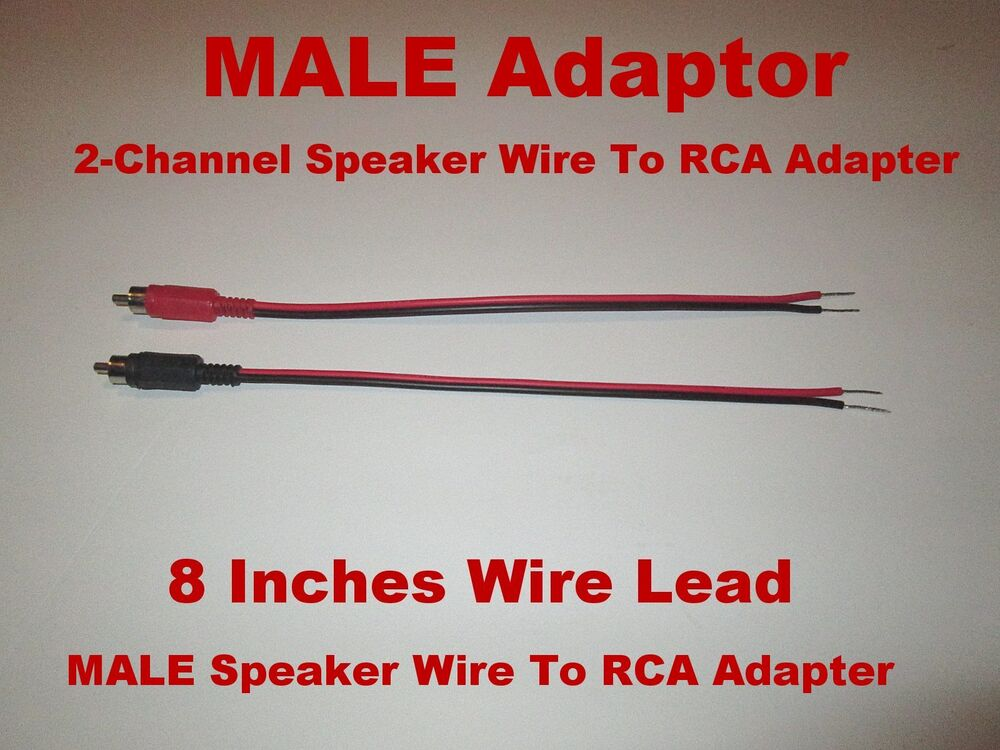 Channel Speaker Wire To RCA Adapter Car Amp Receiver