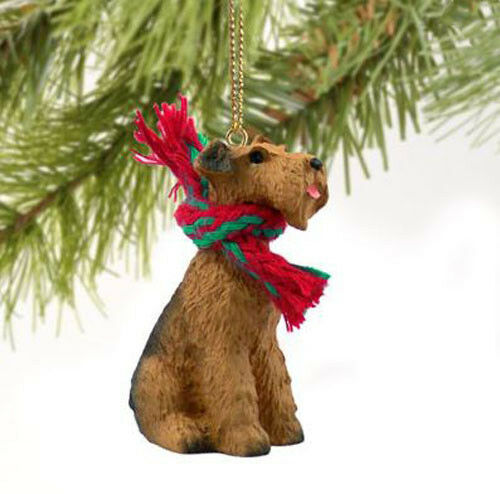 AIREDALE TERRIER DOG CHRISTMAS ORNAMENT HOLIDAY Figurine