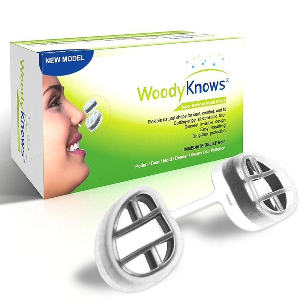 WoodyKnows Nasal Filters, Air Pollution Nose Dust Mask, Pollen Allergy ...