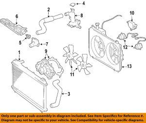 TOYOTA OEM 0406 Sienna Cooling SystemWater Outlet 163040A020 | eBay