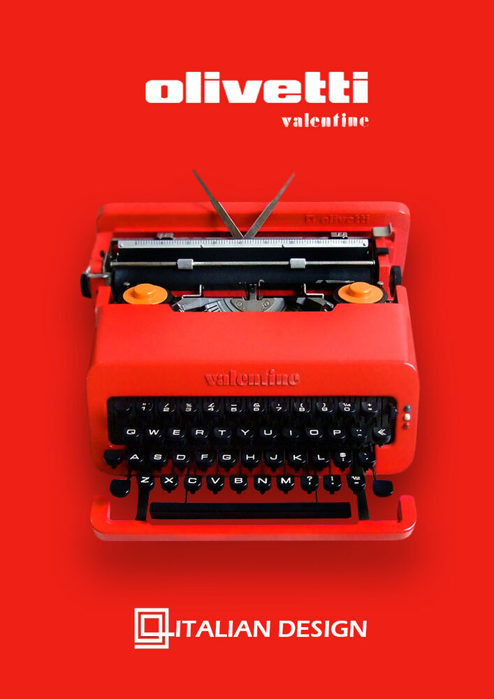 THE BEST Olivetti Valentine Perfectly Working Red