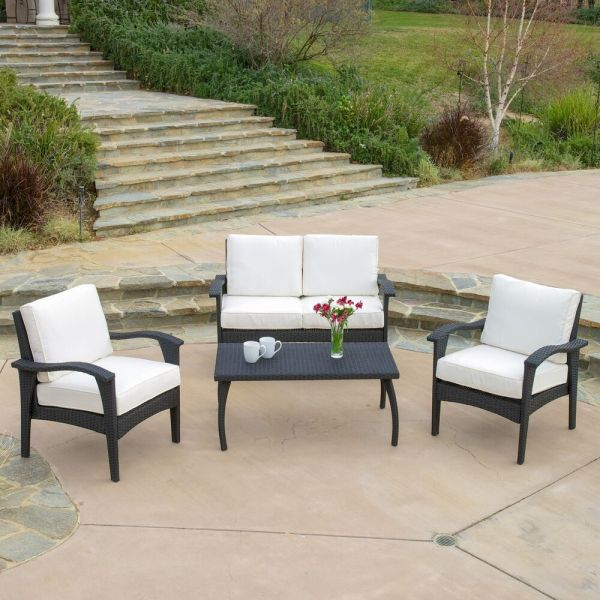 outdoor patio furniture Outdoor Patio Furniture PE Wicker Luxury 4pcs Sofa Seating