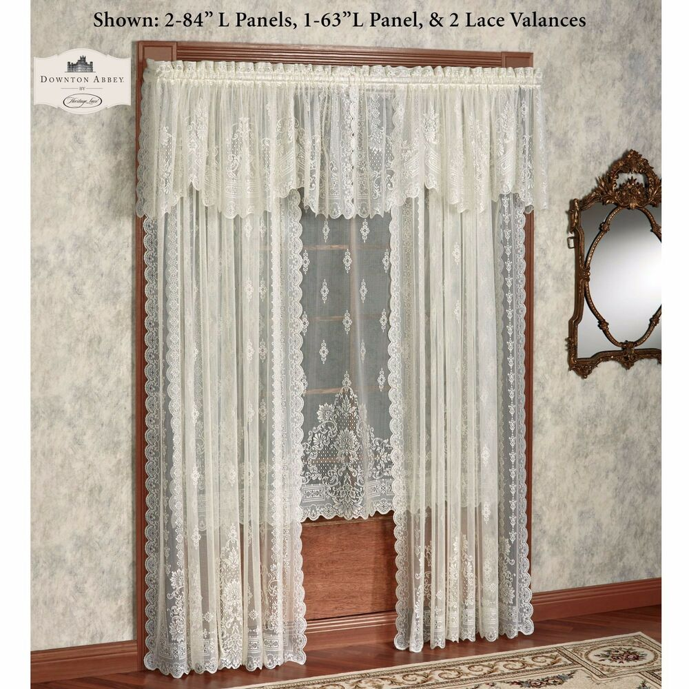 Downton Abbey Milady Collection Victorian Lace Valance Lady Mary Heritage Lace EBay