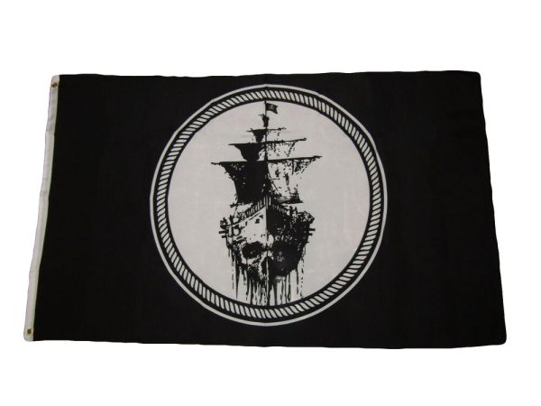 3x5 Jolly Roger Pirate Black Sea Ghost Ship Black Pearl