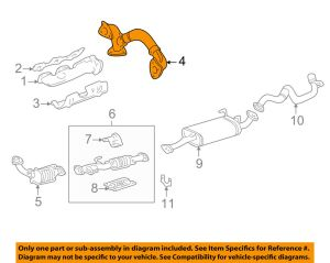 TOYOTA OEM 9904 Taa 34LV6 Exhaust SystemCrossover