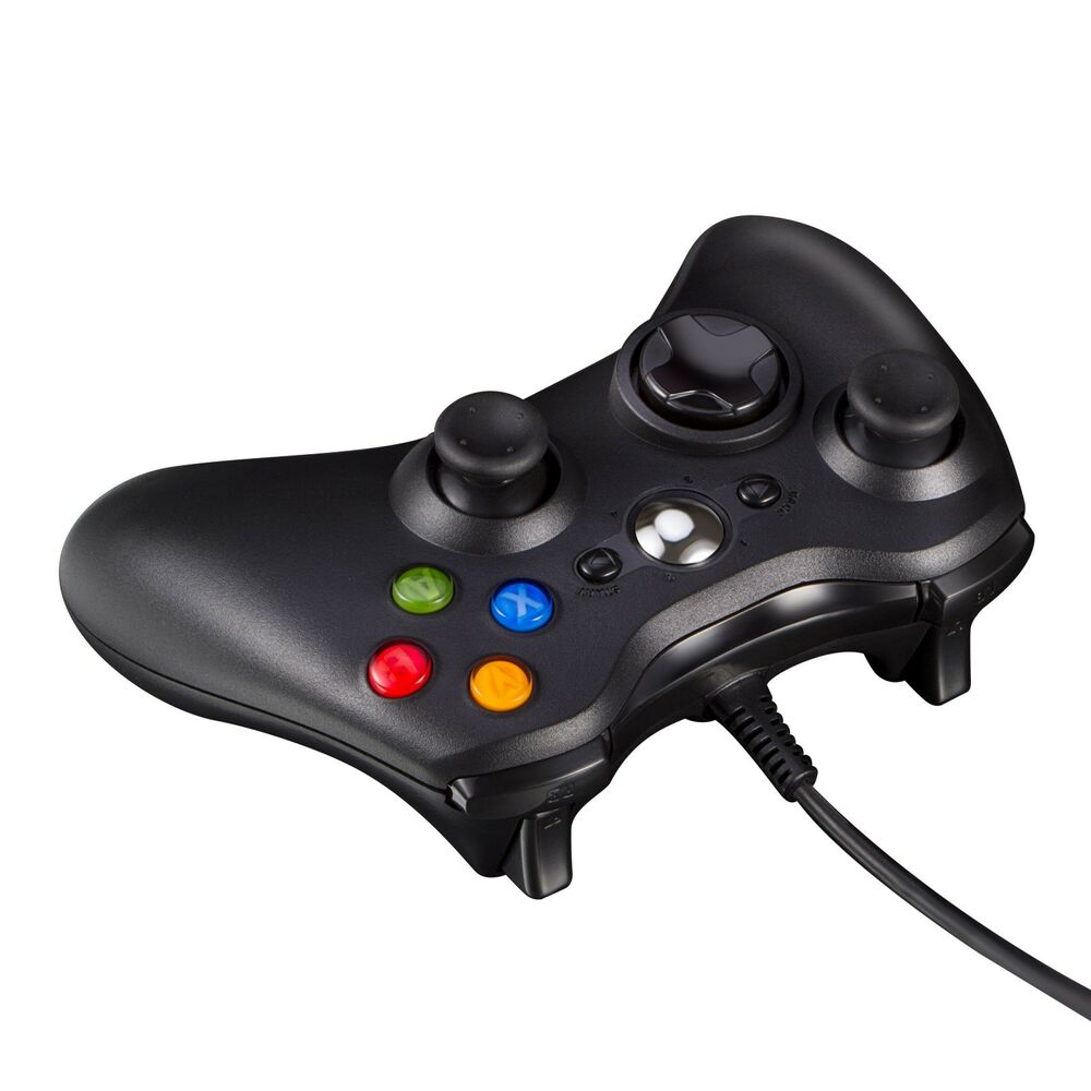 Black USB Wired Game Pad Controller For Microsoft Xbox 360