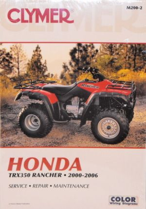 NEW Honda Atv TRX350 350 Rancher Repair Manual NEW! | eBay