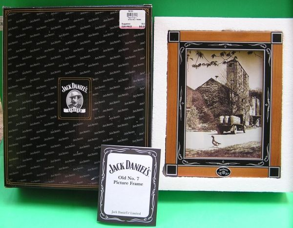 JACK DANIEL'S OLD No. 7 PICTURE FRAME NEW in BOX with COA ...