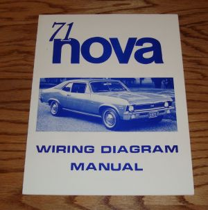 1971 Chevrolet Chevy II Nova Wiring Diagram Manual 71 | eBay