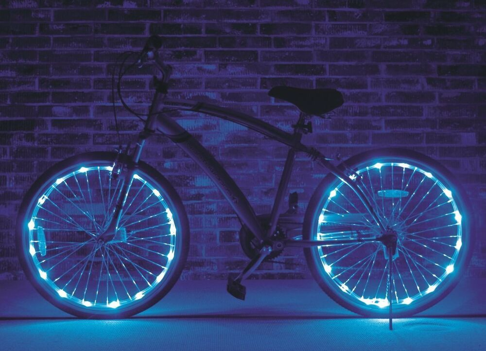 Wheel Brightz Blue 2 PACK Lights LED Bike Bicycle Scooter