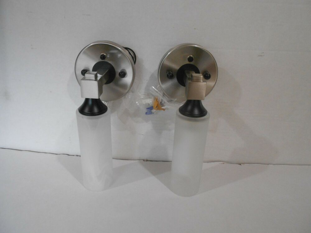 *RV 12 VOLT SET OF TWO DECORATIVE WALL MOUNT LIGHTS SATIN ... on Wall Mounted Decorative Lights id=92075
