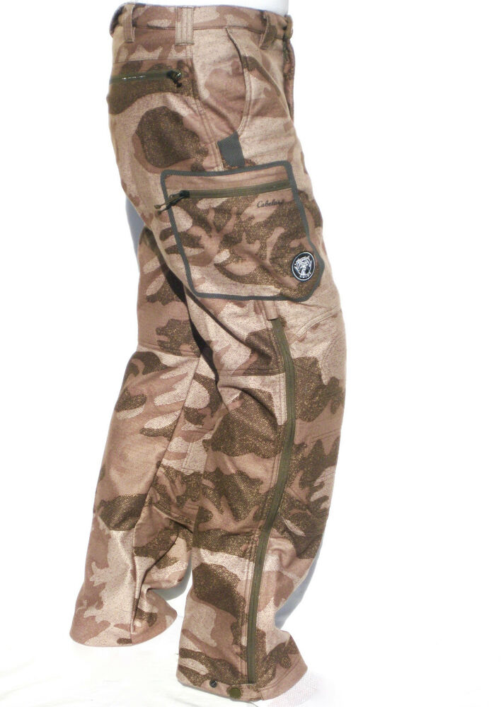 New Cabelas ALASKAN GUIDE Outfitter Camo Windproof Amp Waterproof Hunting Pants EBay