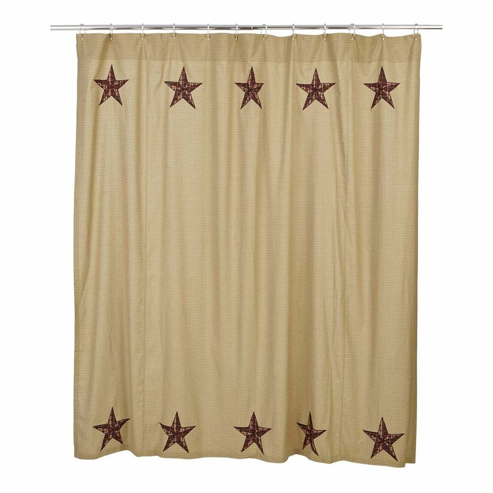 Rustic Country Primitive Landon Star Shower Curtain