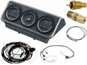 OER 1967 Camaro Console Gauges w Wiring Install Kit MT 67