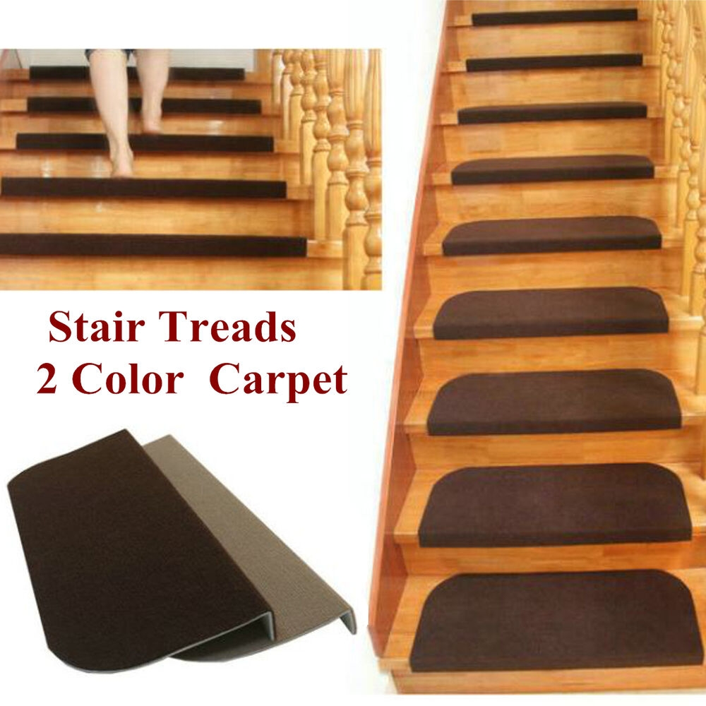 Adhesive Carpet Stair Treads Mats Staircase Non Slip Step | Buy Carpet For Stairs