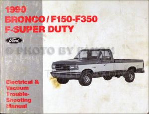 1990 Ford Pickup Electrical Troubleshooting Manual Bronco F150 F250 F350 Truck | eBay