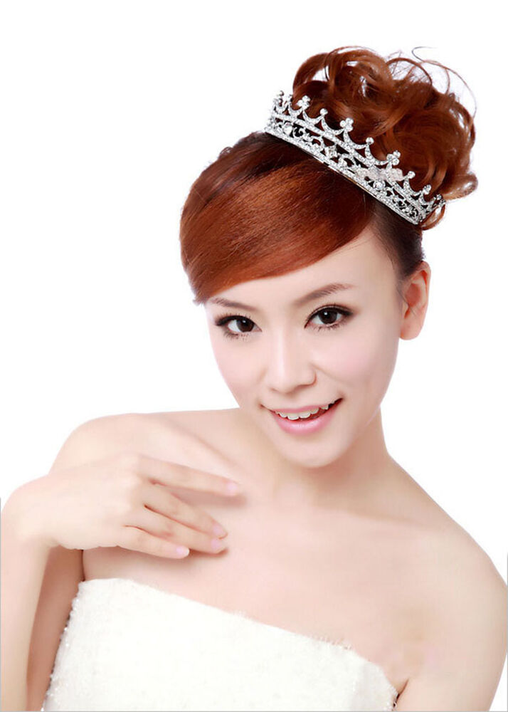 Hot Deal Sparkling Crystal Crown Headband Pageant Prom