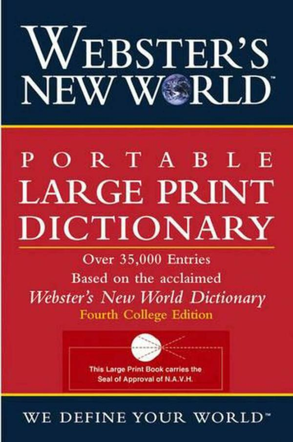 Webster's New World Portable LP Dictionary by Webster's ...