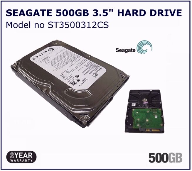 500GB SEAGATE SATA INTERNAL DESKTOP PC 35 HDD HARD DISK