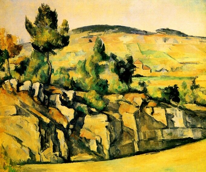 MOUNTAINS IN PROVENCE FRANCE IMPRESSIONISM PAINTING BY PAUL CEZANNE REPRO EBay