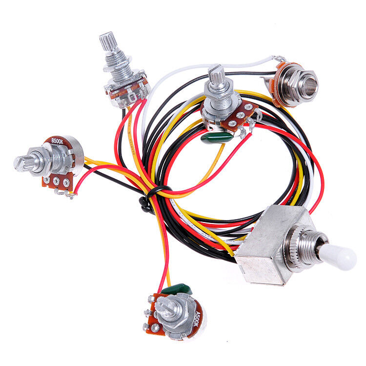 1 Set Wiring Harness Prewired 2v2t 3way Toggle Switch Jack