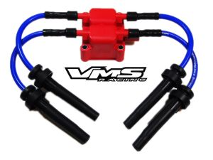 VMS RACING IGNITION COIL 10MM SPARK PLUG WIRES 0409