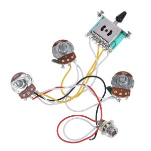 Electric Guitar Wiring Harness Prewired Kit for Strat