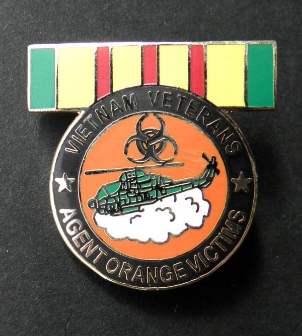 VIETNAM VETERAN VET AGENT ORANGE VICTIMS RIBBON LAPEL HAT ...