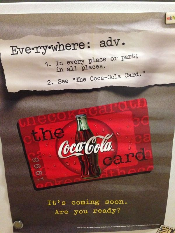 """1998 Coca-Cola COKE poster EVERYWHERE advertising """"See the ..."""