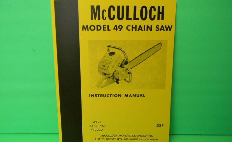 Mcculloch Em300s Parts