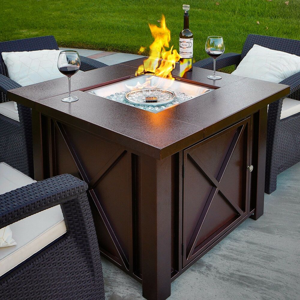 LPG Fire Pit Table Outdoor gas Fireplace Propane Heater ... on Outdoor Gas Fireplace For Deck id=18494