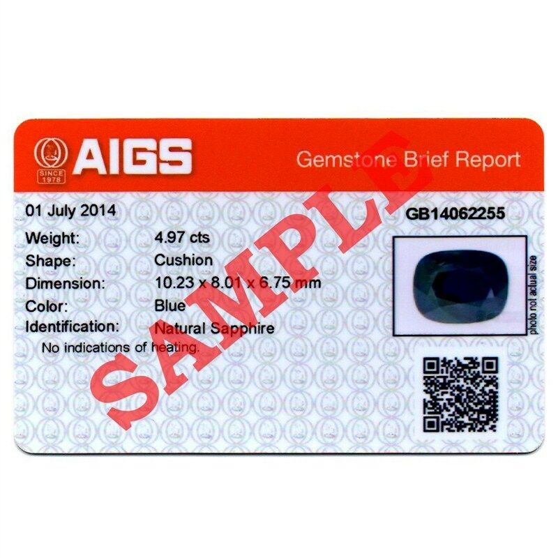 AIGS Gemstone Identification Card Report With Photo EBay