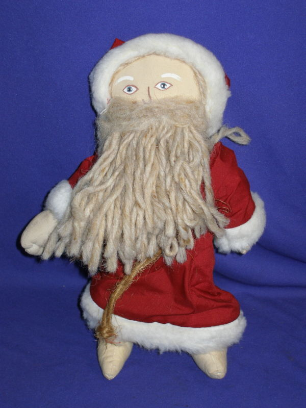 Vintage Country Santa Claus Cloth Christmas Doll 13 EBay