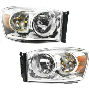 Headlight Set For 20072009 Dodge Ram 1500 Ram 2500 Left