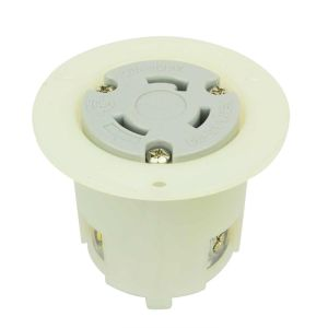 Twist Lock Flange Receptacle 3 Wire, 30 Amps, 125V, NEMA