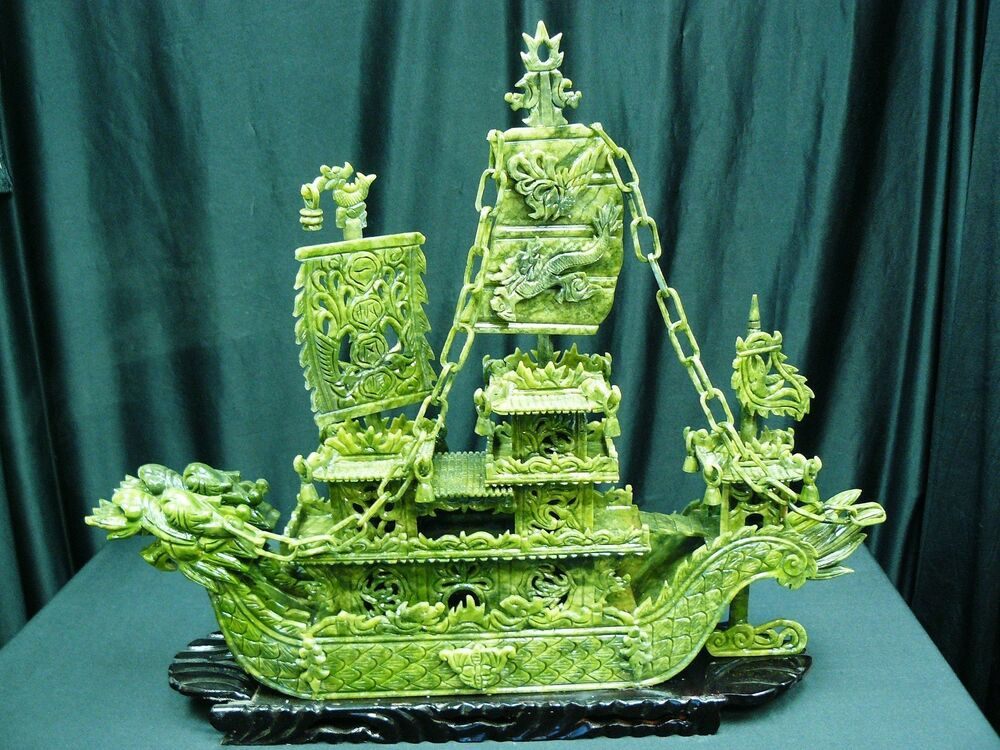 FACTORY SALE REAL 24 GREEN JADE DRAGON BOAT BJ60D HIGH QUALITY EBay