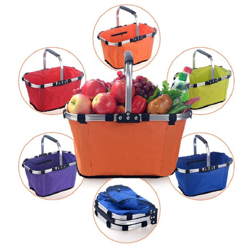 Folding Collapsible Portable Market Shopping Tote Outdoor