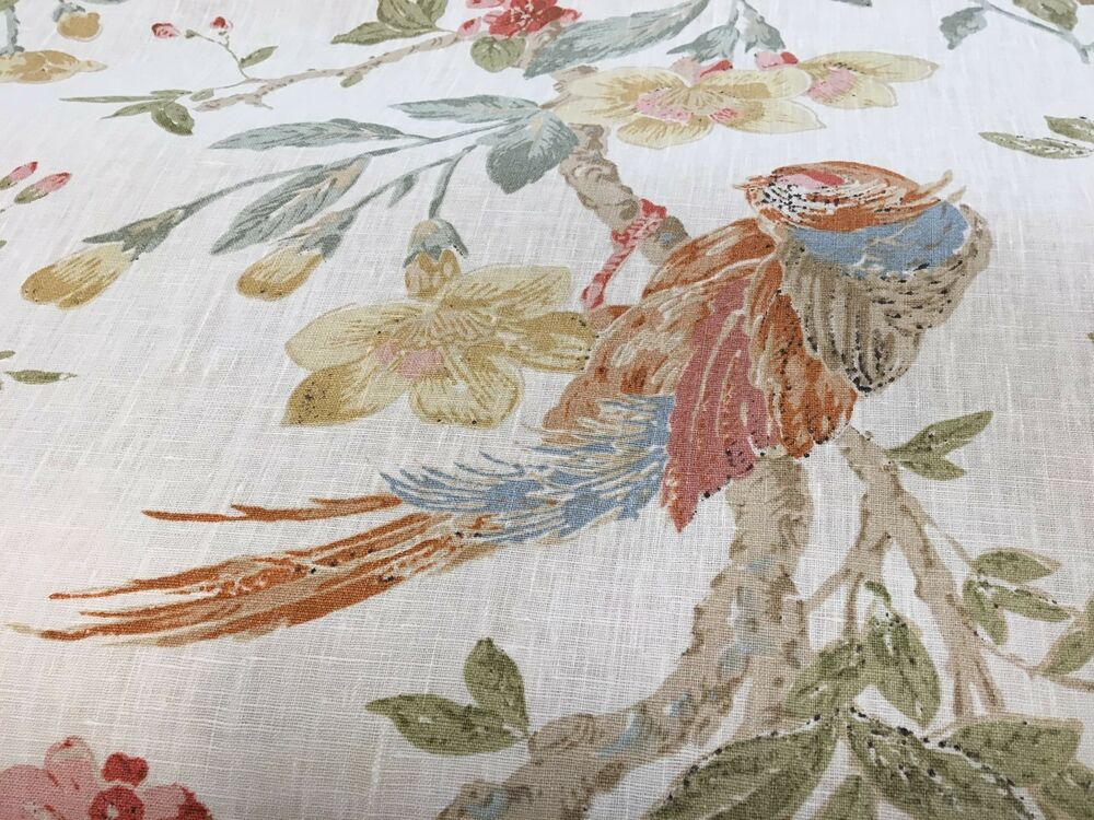 Lee Jofa Designer Floral Home Decor Fabric 100% Linen BTY