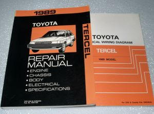 1989 TOYOTA TERCEL Service Repair Manual & Electrical Wiring Diagrams Sedan HB | eBay
